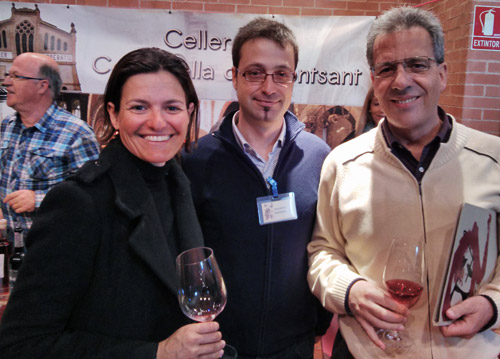 Marta Domènech of Hostal Sport, Rafel Pino of Celler El Masroig and a professor from the Jaume Ciurana enology school