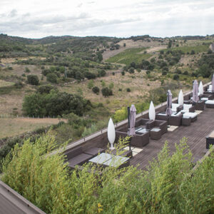 Terrace overlooking the countryside