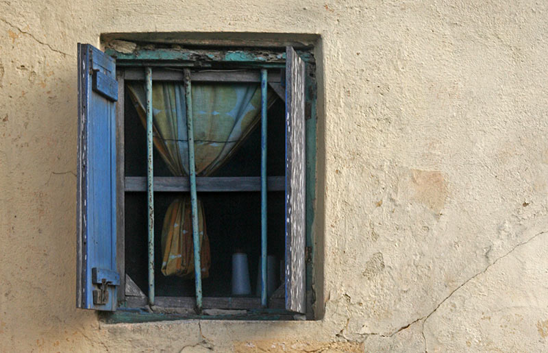 An open window in Cape Coast, Ghana