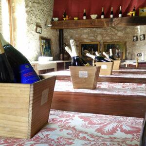 Their tasting room in the farmhouse