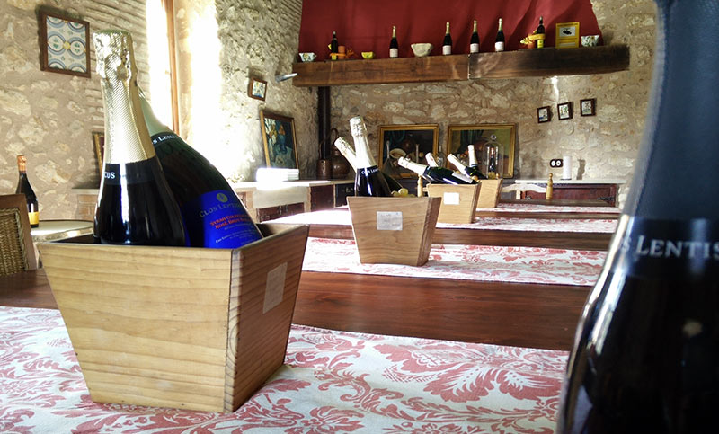 Their tasting room in the farmhouse