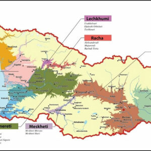 Map from the Georgian Wine Agency