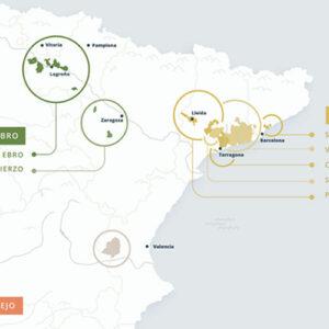 Map of new Cava zones, DO Cava